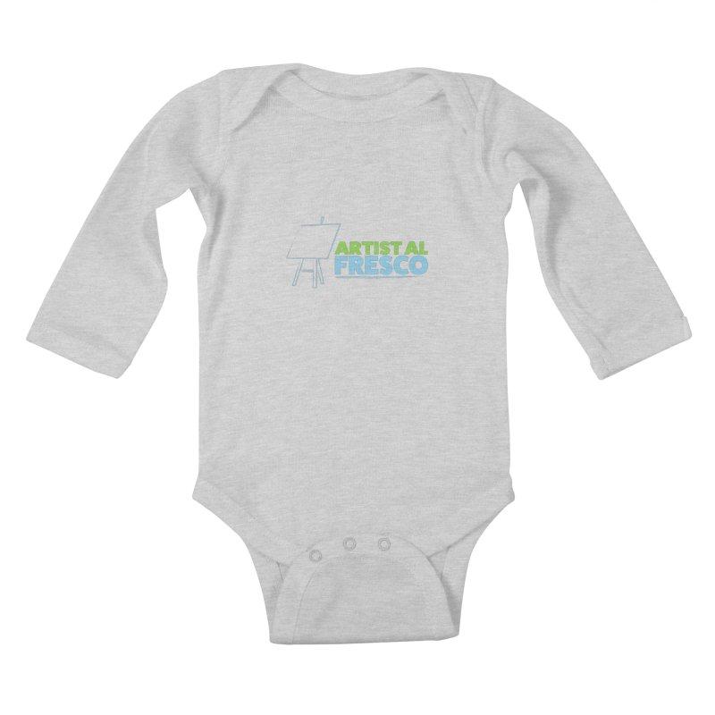 Artist Al Fresco Logo Kids Baby Longsleeve Bodysuit by Coconut Justice's Artist Shop