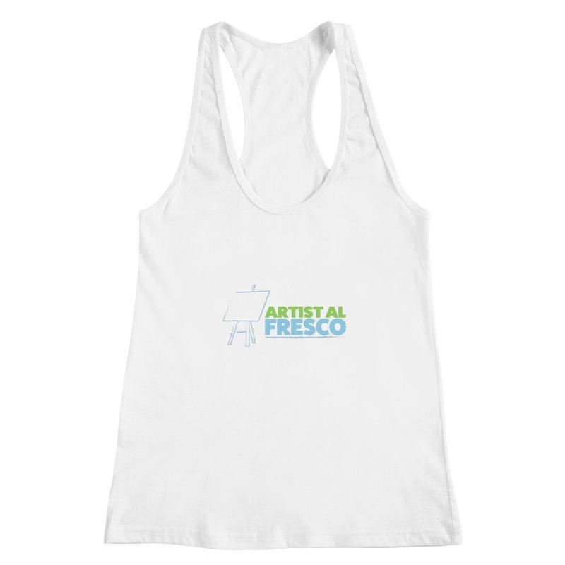 Artist Al Fresco Logo Women's Racerback Tank by Coconut Justice's Artist Shop