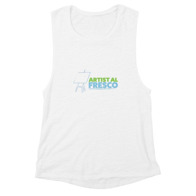 Artist Al Fresco Logo Women's Muscle Tank by Coconut Justice's Artist Shop