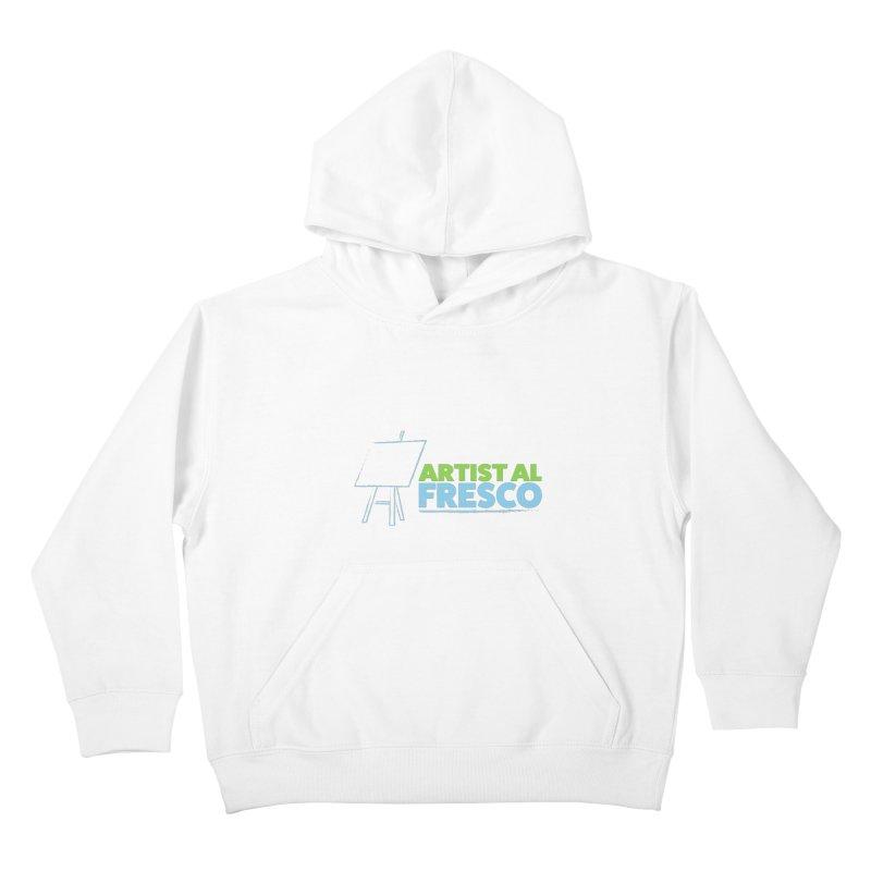 Artist Al Fresco Logo Kids Pullover Hoody by Coconut Justice's Artist Shop