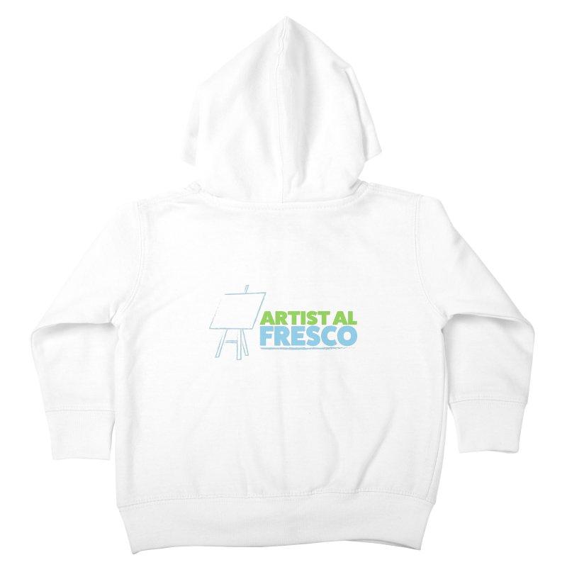 Artist Al Fresco Logo Kids Toddler Zip-Up Hoody by Coconut Justice's Artist Shop