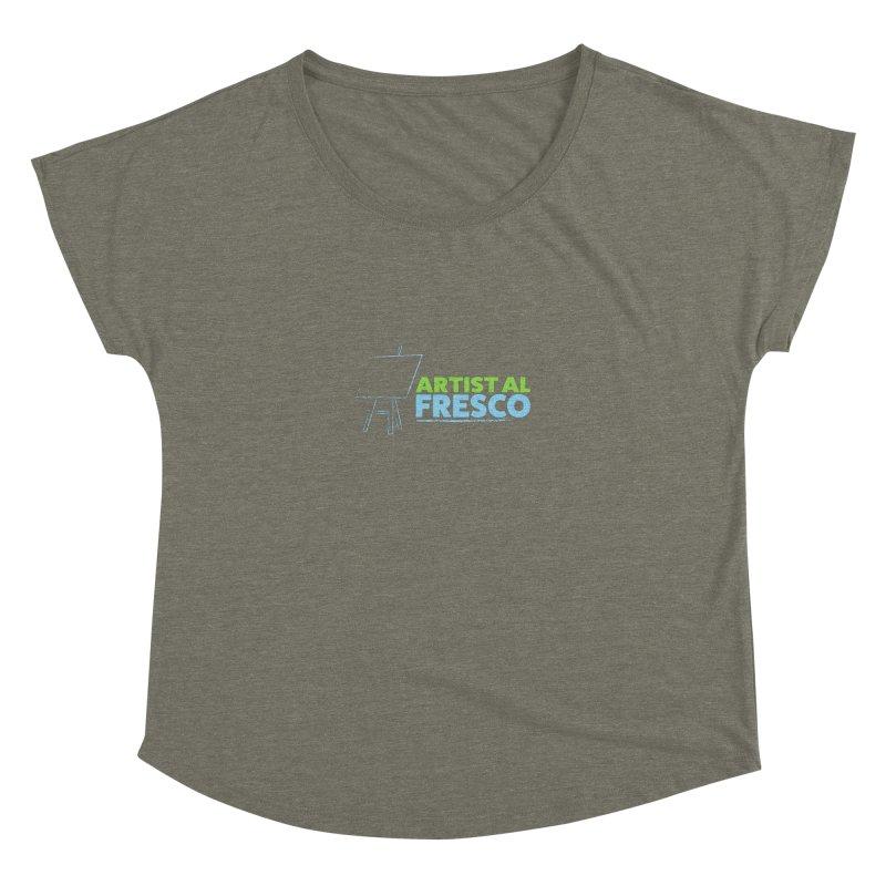 Artist Al Fresco Logo Women's Dolman Scoop Neck by Coconut Justice's Artist Shop