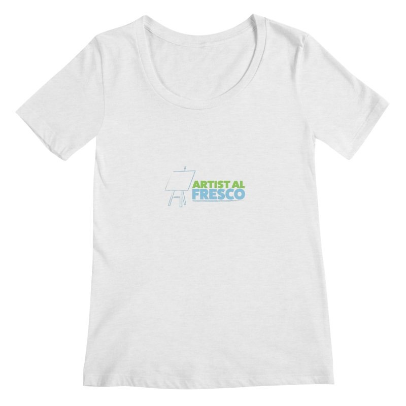 Artist Al Fresco Logo Women's Regular Scoop Neck by Coconut Justice's Artist Shop