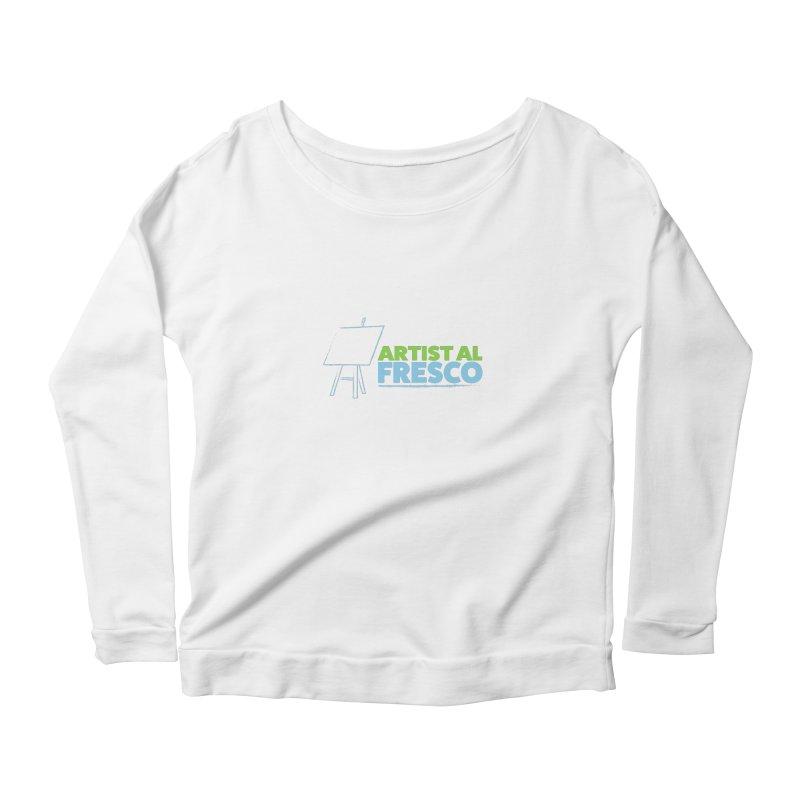 Artist Al Fresco Logo Women's Scoop Neck Longsleeve T-Shirt by Coconut Justice's Artist Shop