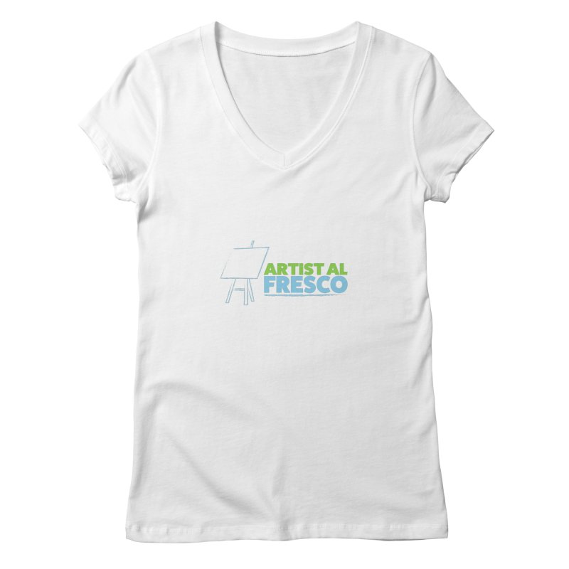 Artist Al Fresco Logo Women's Regular V-Neck by Coconut Justice's Artist Shop
