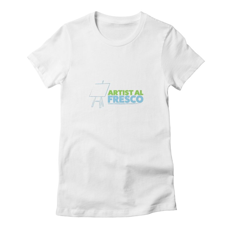 Artist Al Fresco Logo Women's Fitted T-Shirt by Coconut Justice's Artist Shop