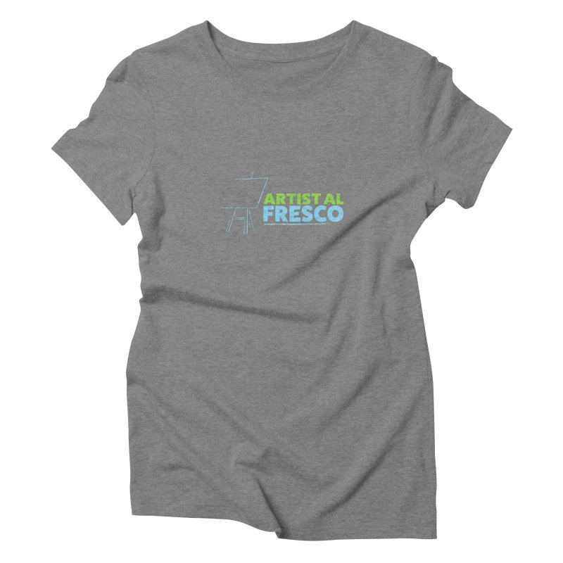Artist Al Fresco Logo Women's Triblend T-Shirt by Coconut Justice's Artist Shop