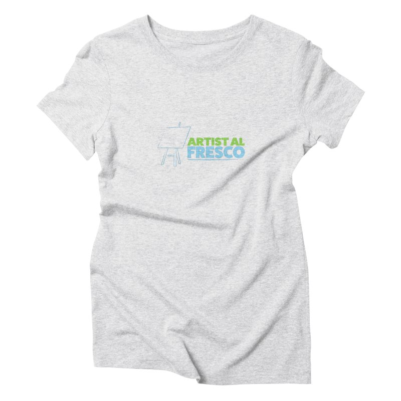 Artist Al Fresco Logo Women's Triblend T-Shirt by Coconut Justice's Artist Shop