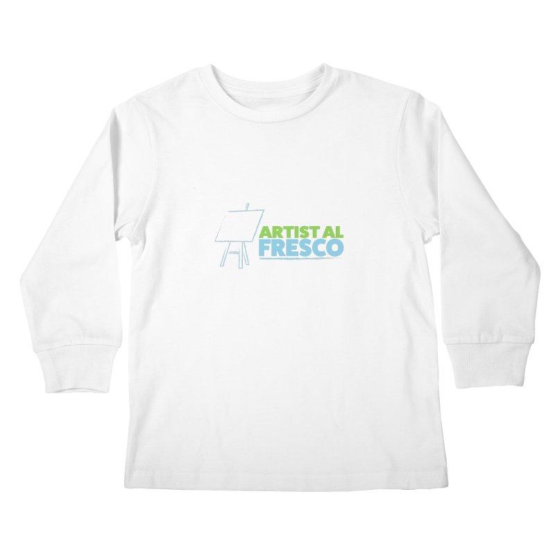 Artist Al Fresco Logo Kids Longsleeve T-Shirt by Coconut Justice's Artist Shop