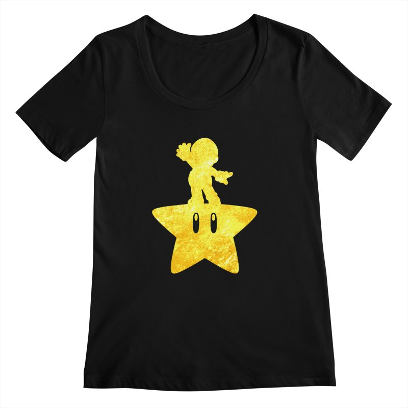 Young Scrappy Plumber Women's Scoopneck by coddesigns's Artist Shop