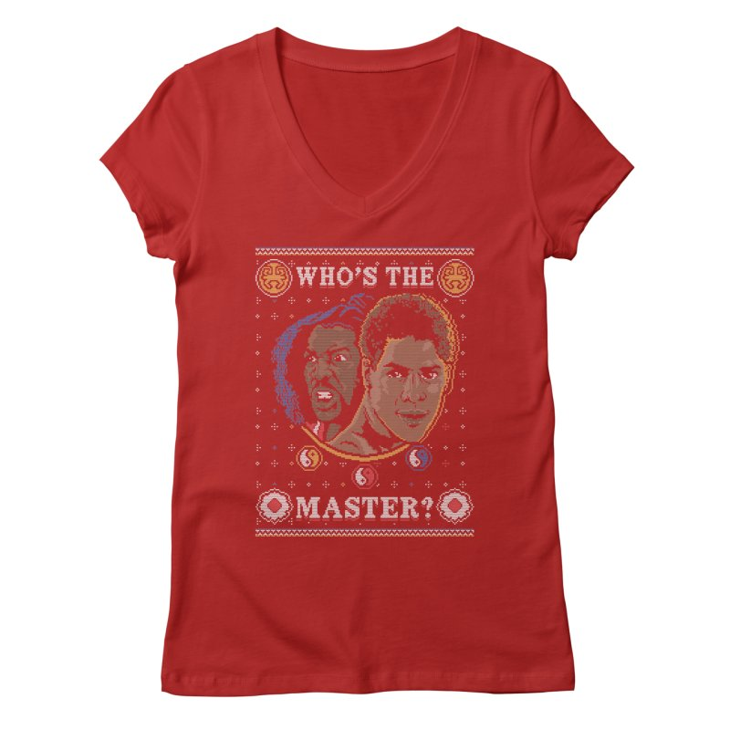 Who's The Master? Women's V-Neck by coddesigns's Artist Shop