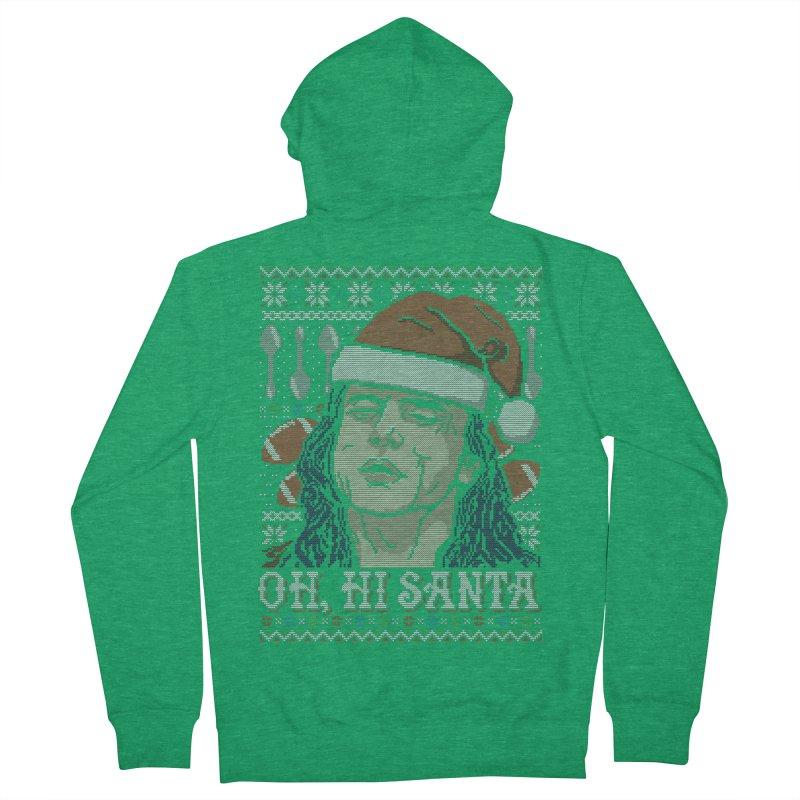 Oh, Hi Santa Men's Zip-Up Hoody by coddesigns's Artist Shop