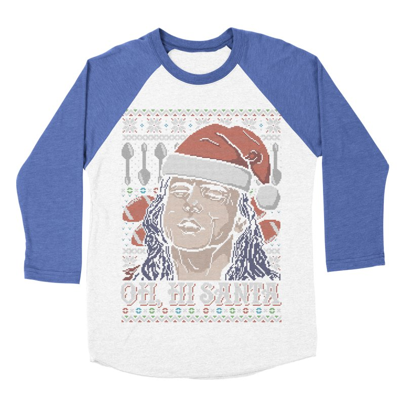 Oh, Hi Santa Men's Baseball Triblend T-Shirt by coddesigns's Artist Shop