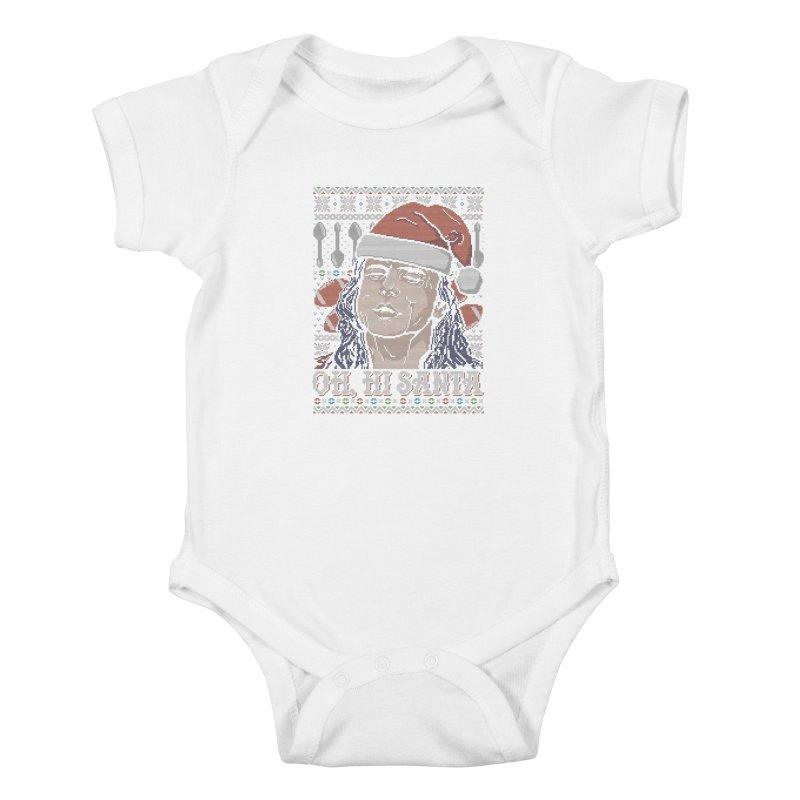 Oh, Hi Santa Kids Baby Bodysuit by coddesigns's Artist Shop