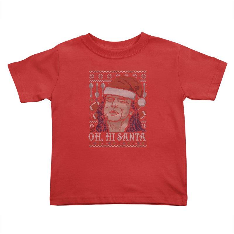 Oh, Hi Santa Kids Toddler T-Shirt by coddesigns's Artist Shop