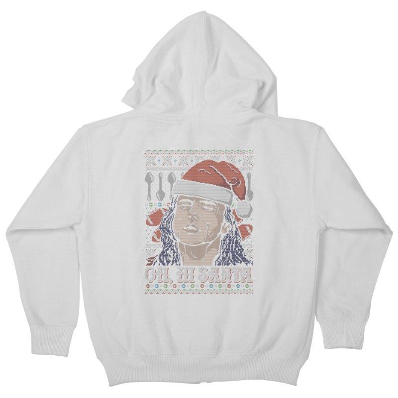 Oh, Hi Santa Kids Zip-Up Hoody by coddesigns's Artist Shop