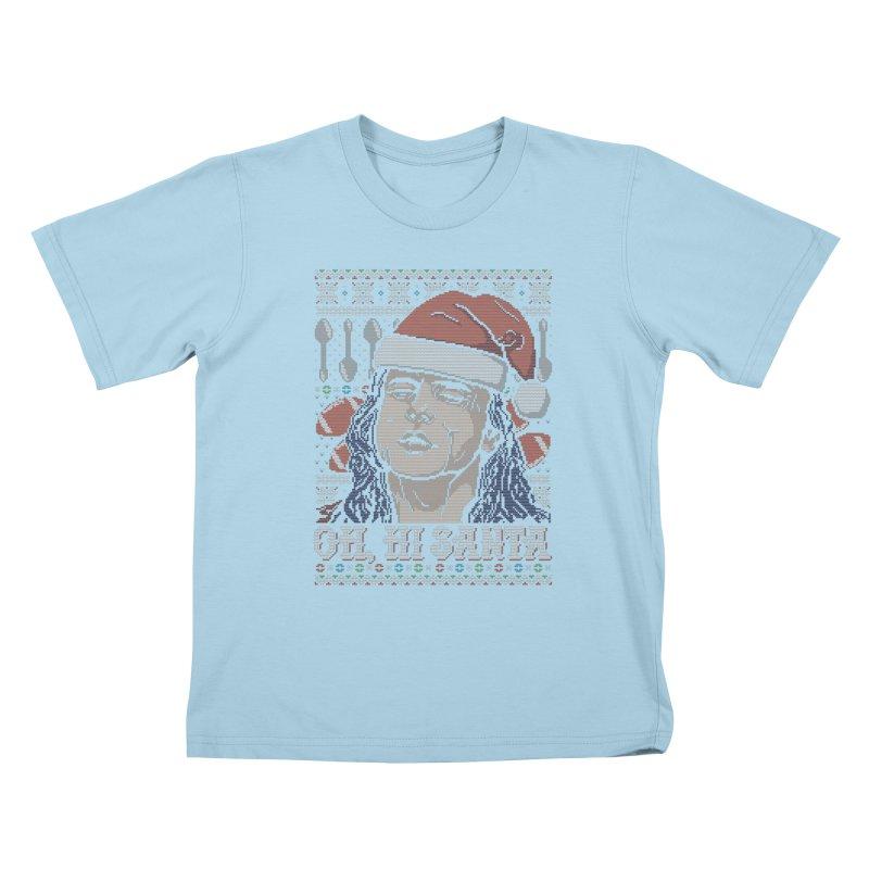 Oh, Hi Santa Kids T-Shirt by coddesigns's Artist Shop