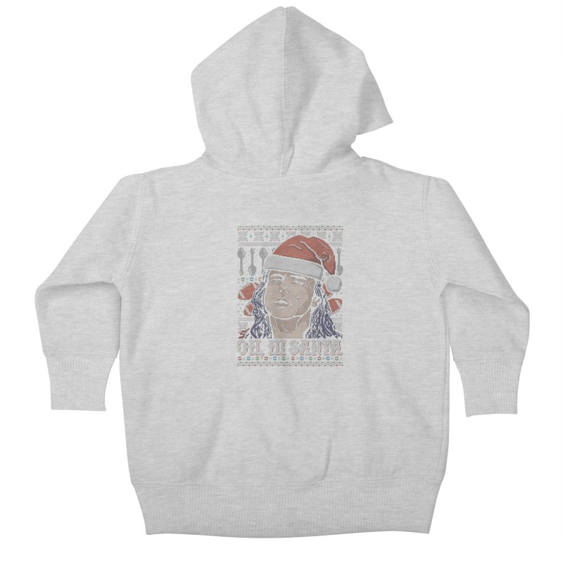 Oh, Hi Santa Kids Baby Zip-Up Hoody by coddesigns's Artist Shop