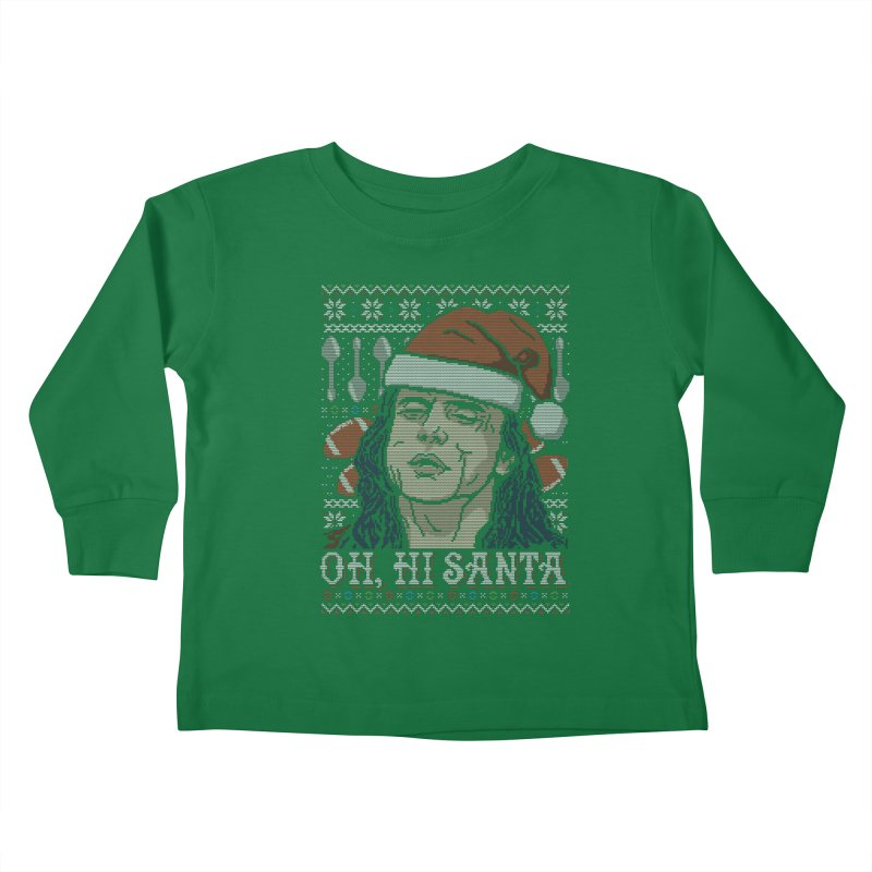 Oh, Hi Santa Kids Toddler Longsleeve T-Shirt by coddesigns's Artist Shop