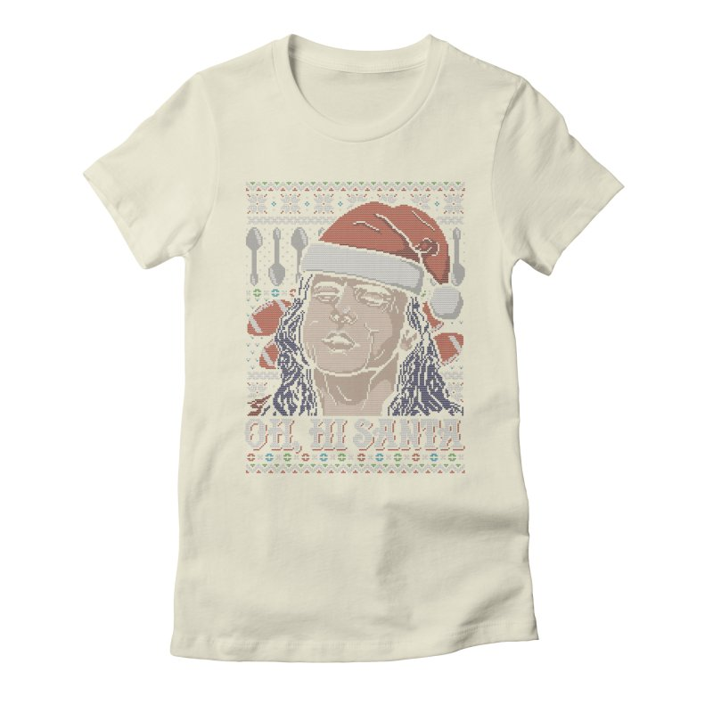 Oh, Hi Santa Women's Fitted T-Shirt by coddesigns's Artist Shop
