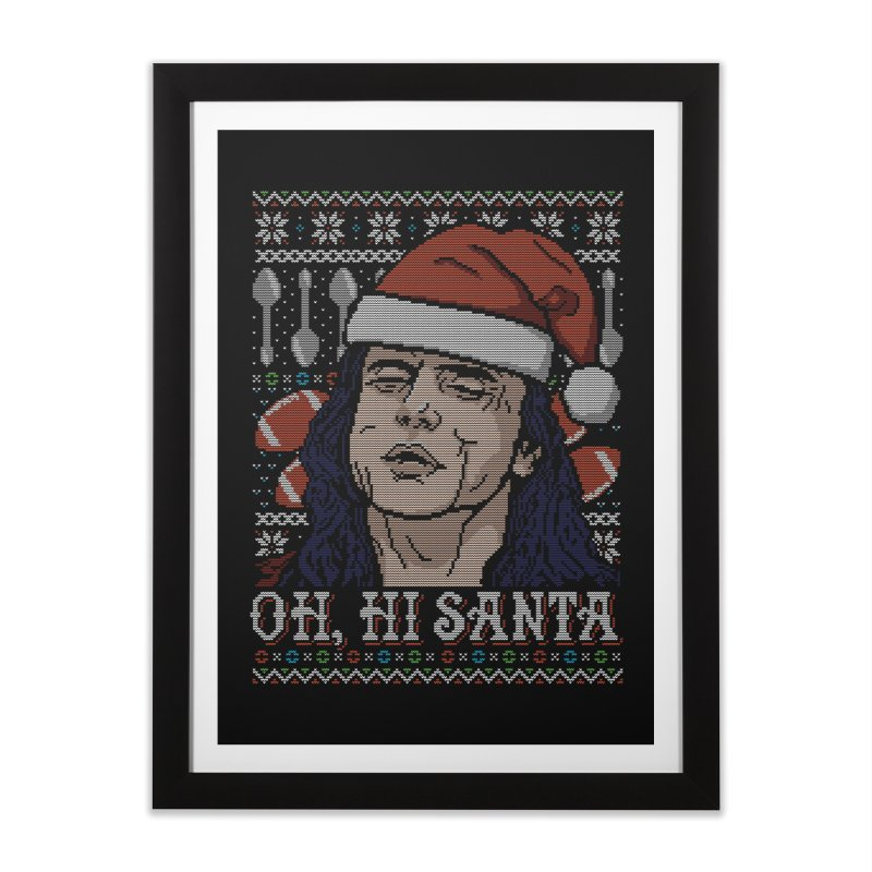 Oh, Hi Santa Home Framed Fine Art Print by coddesigns's Artist Shop