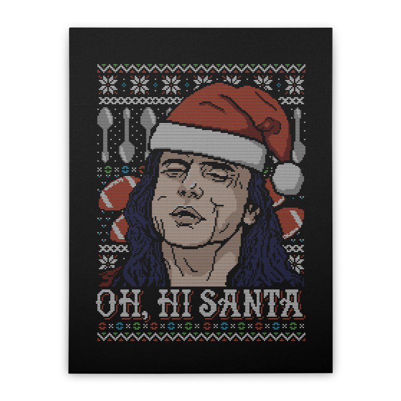 Oh, Hi Santa Home Stretched Canvas by coddesigns's Artist Shop