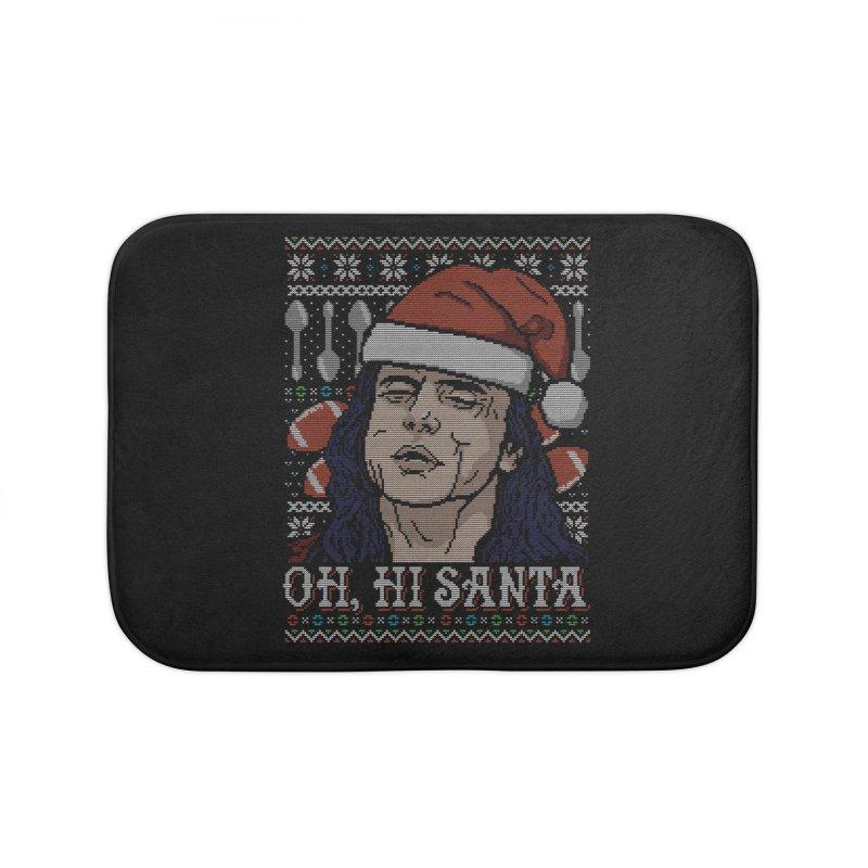 Oh, Hi Santa Home Bath Mat by CoD Designs