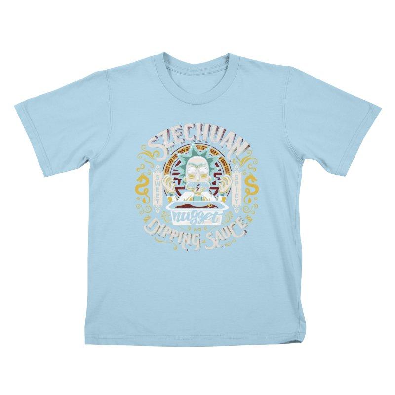 Grandpa Rick's Nugget Dipping Sauce Kids T-Shirt by coddesigns's Artist Shop