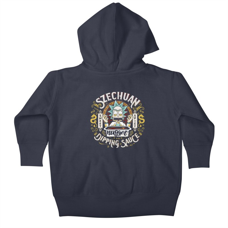 Grandpa Rick's Nugget Dipping Sauce Kids Baby Zip-Up Hoody by coddesigns's Artist Shop