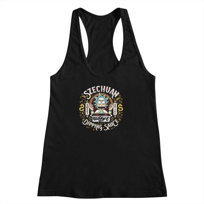 Grandpa Rick's Nugget Dipping Sauce Women's Racerback Tank by coddesigns's Artist Shop