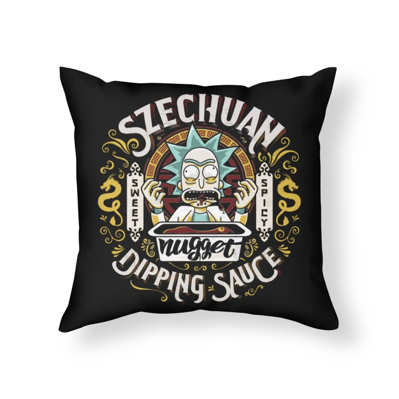 Grandpa Rick's Nugget Dipping Sauce Home Throw Pillow by coddesigns's Artist Shop