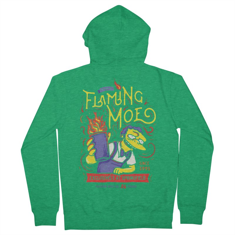Flaming Moe Women's Zip-Up Hoody by coddesigns's Artist Shop