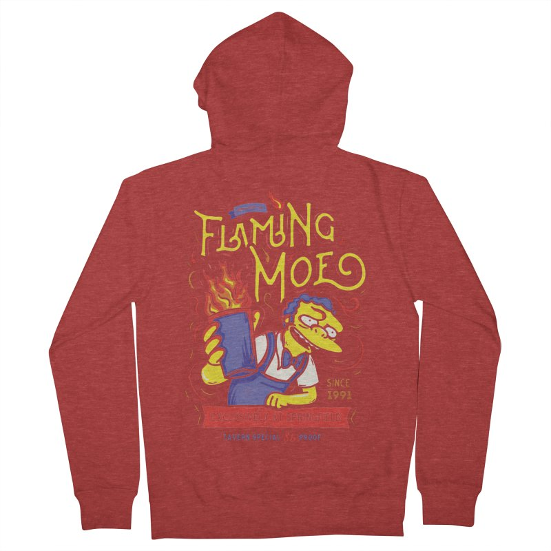 Flaming Moe Women's Zip-Up Hoody by coddesigns's Artist Shop