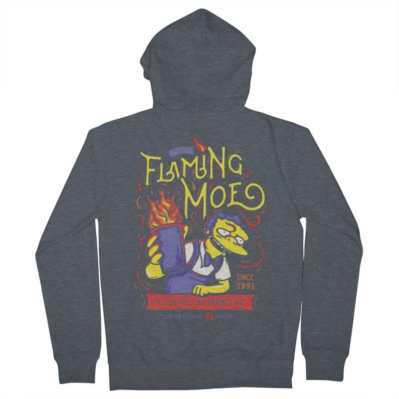 Flaming Moe Men's Zip-Up Hoody by coddesigns's Artist Shop