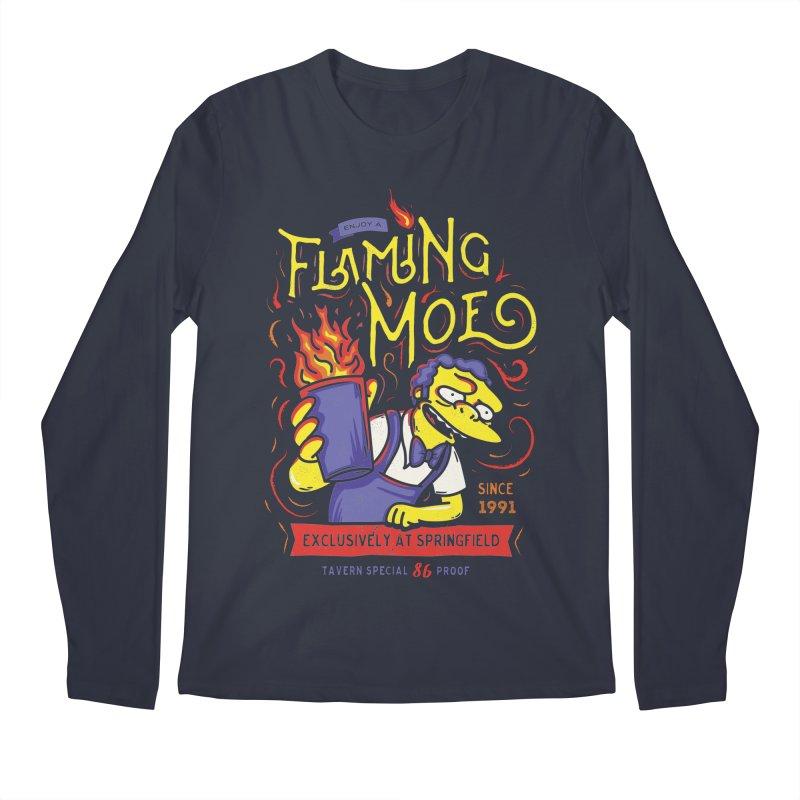 Flaming Moe Men's Longsleeve T-Shirt by coddesigns's Artist Shop
