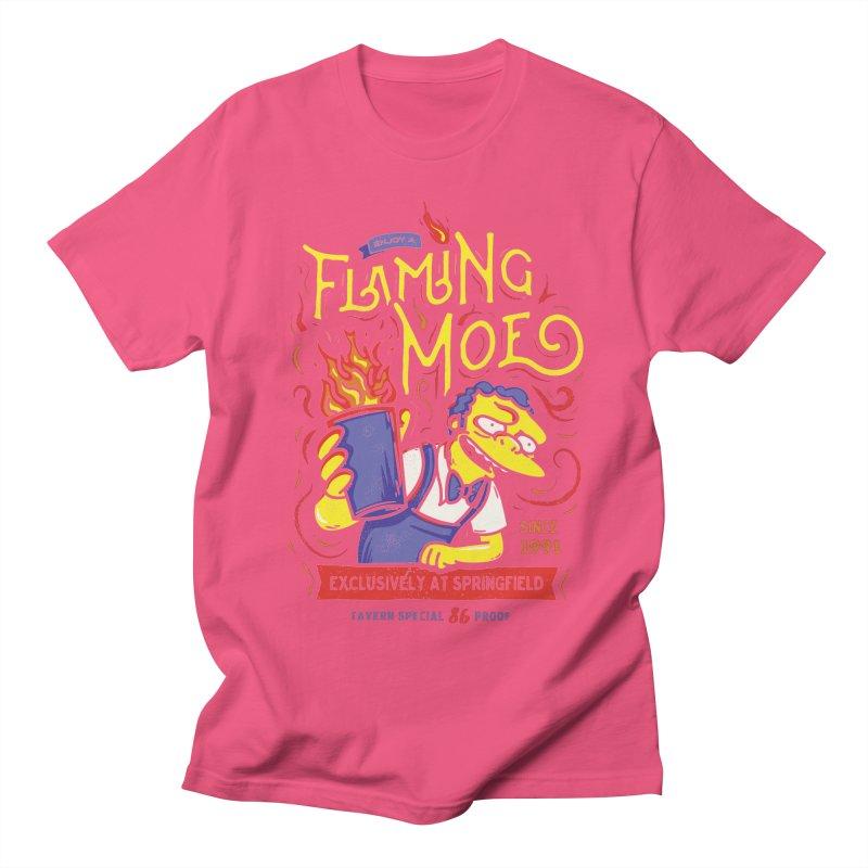 Flaming Moe Men's T-shirt by coddesigns's Artist Shop