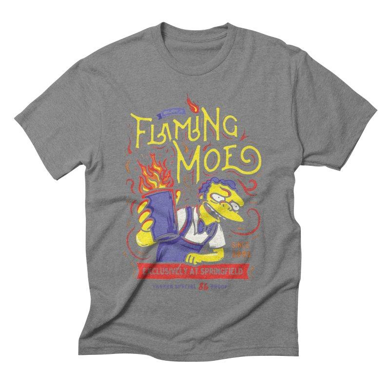 Flaming Moe Men's Triblend T-shirt by coddesigns's Artist Shop