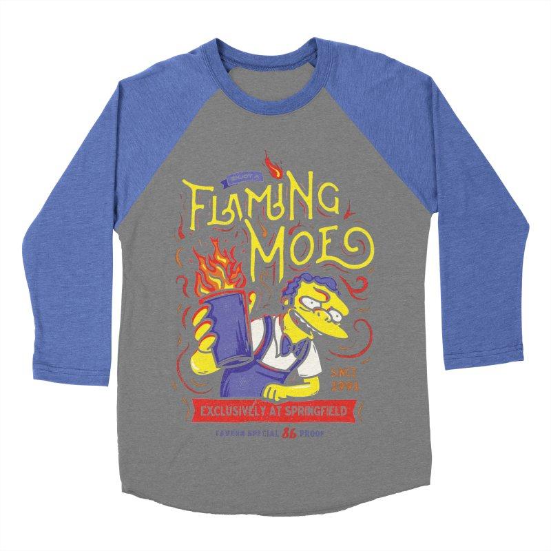 Flaming Moe Men's Baseball Triblend T-Shirt by coddesigns's Artist Shop