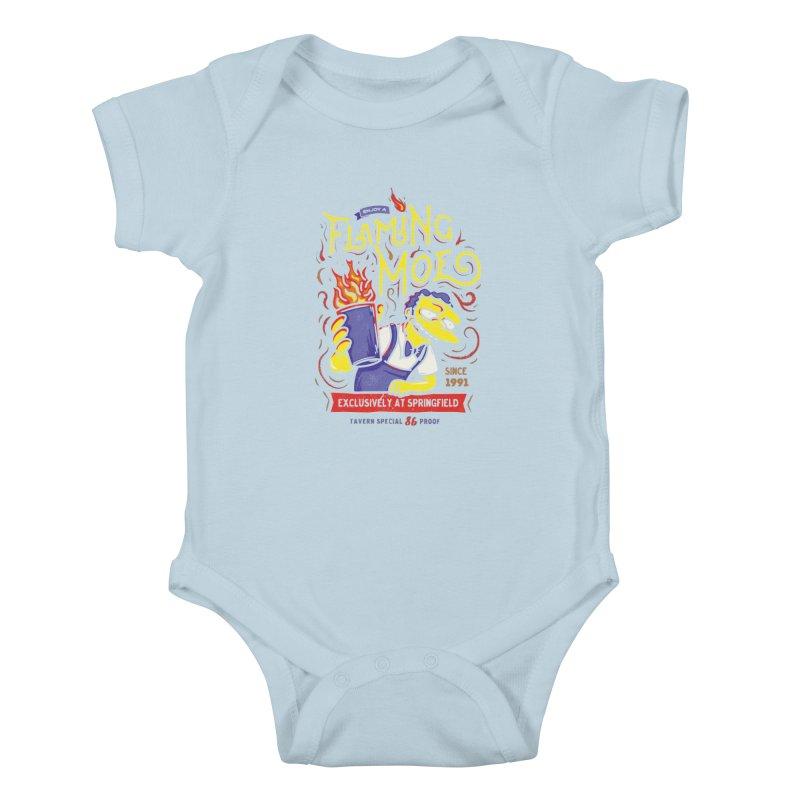 Flaming Moe Kids Baby Bodysuit by coddesigns's Artist Shop