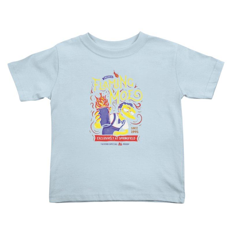 Flaming Moe Kids Toddler T-Shirt by coddesigns's Artist Shop