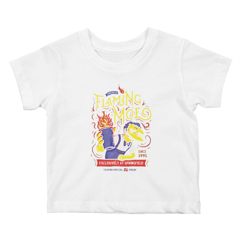 Flaming Moe Kids Baby T-Shirt by coddesigns's Artist Shop