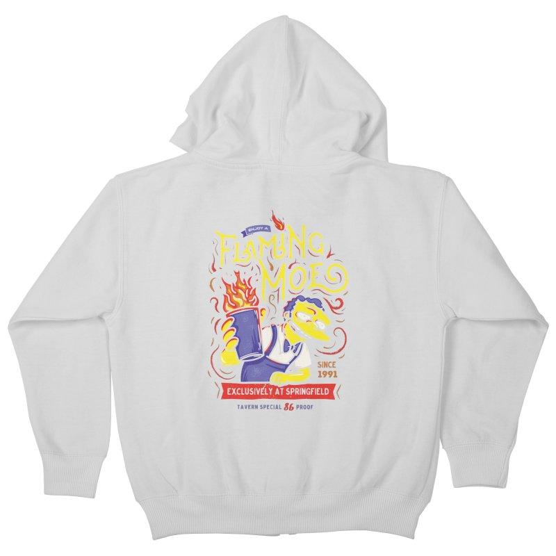 Flaming Moe Kids Zip-Up Hoody by coddesigns's Artist Shop