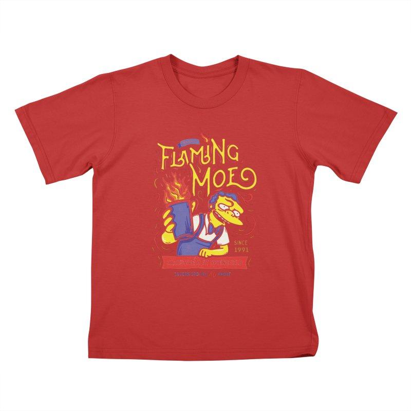 Flaming Moe Kids T-Shirt by coddesigns's Artist Shop