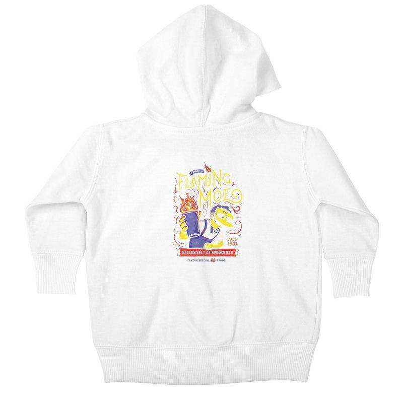 Flaming Moe Kids Baby Zip-Up Hoody by coddesigns's Artist Shop