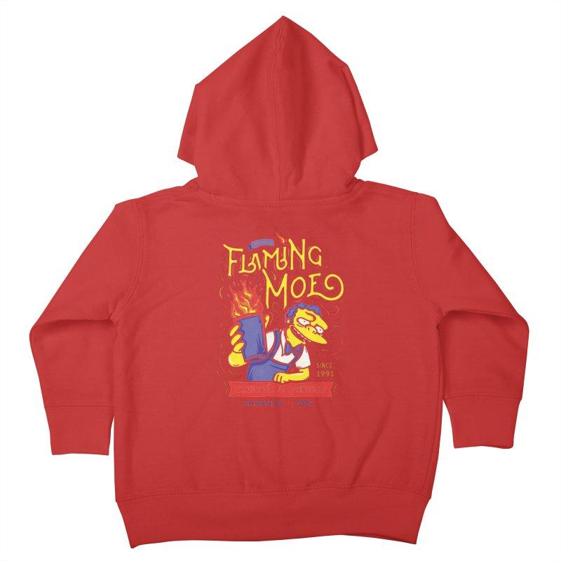 Flaming Moe Kids Toddler Zip-Up Hoody by coddesigns's Artist Shop