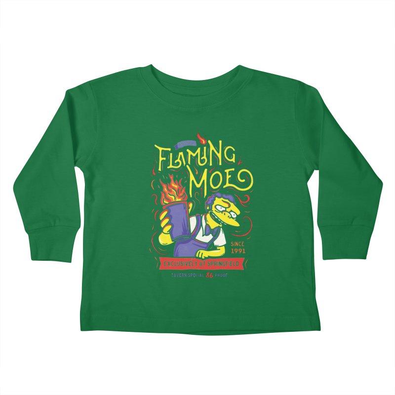 Flaming Moe Kids Toddler Longsleeve T-Shirt by coddesigns's Artist Shop