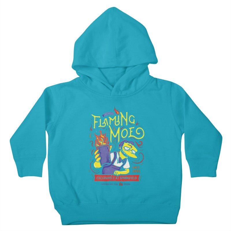 Flaming Moe Kids Toddler Pullover Hoody by coddesigns's Artist Shop