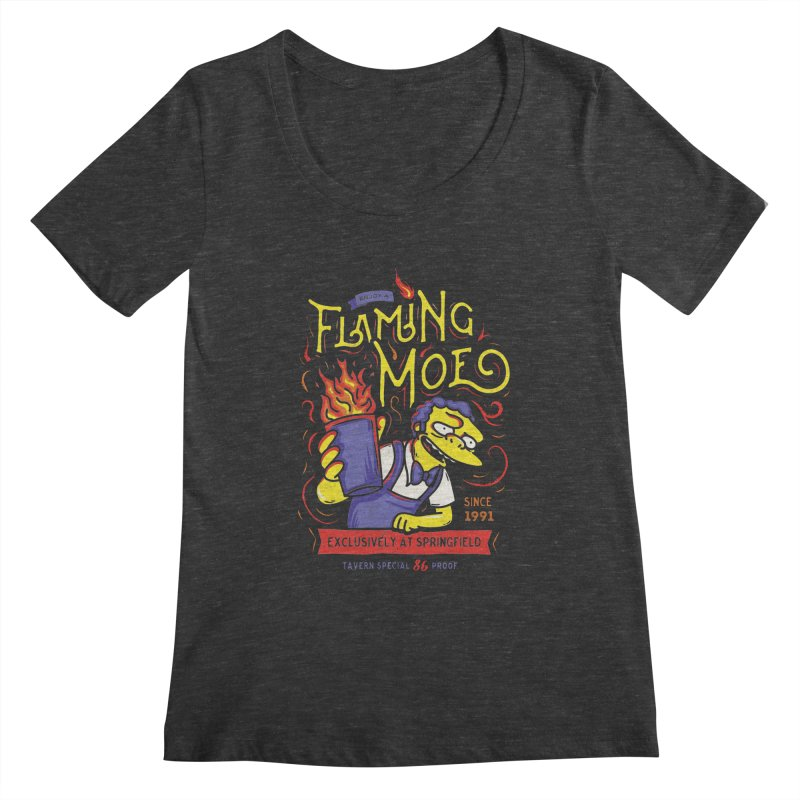 Flaming Moe Women's Scoopneck by coddesigns's Artist Shop