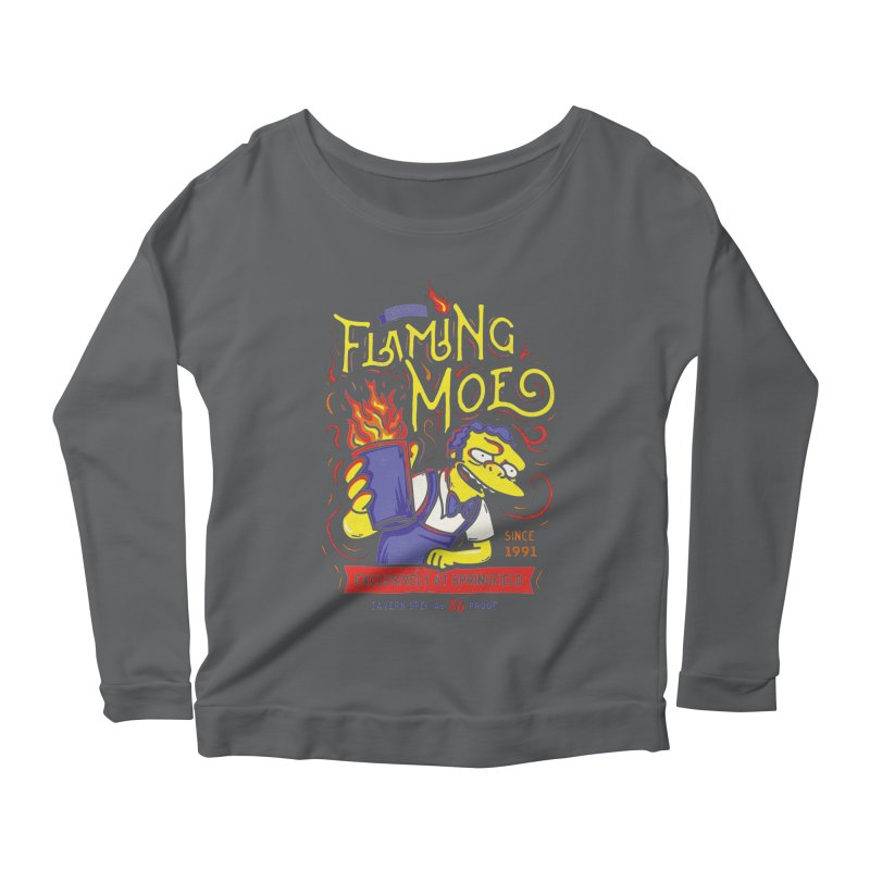Flaming Moe Women's Longsleeve Scoopneck  by coddesigns's Artist Shop