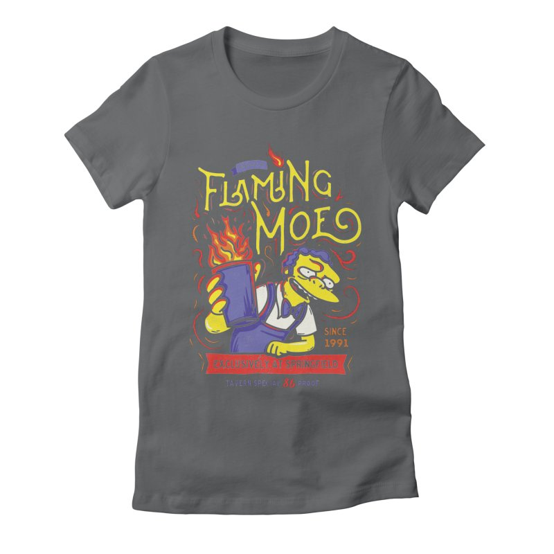 Flaming Moe Women's Fitted T-Shirt by coddesigns's Artist Shop